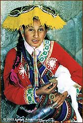 Girl from the province of Quispicanchis in Cusco