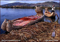Reed boats, Uros Islands